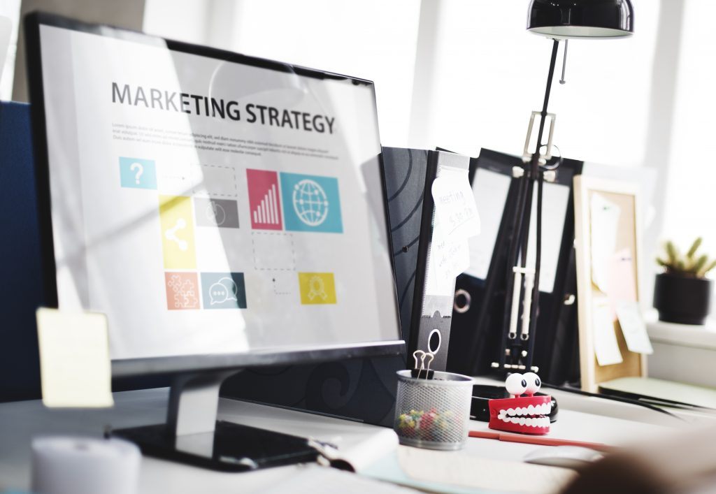 marketing software displaying a marketing strategy