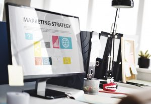 marketing software displaying a marketing strategy