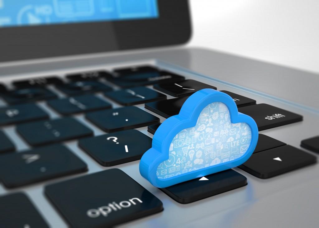 cloud on laptop