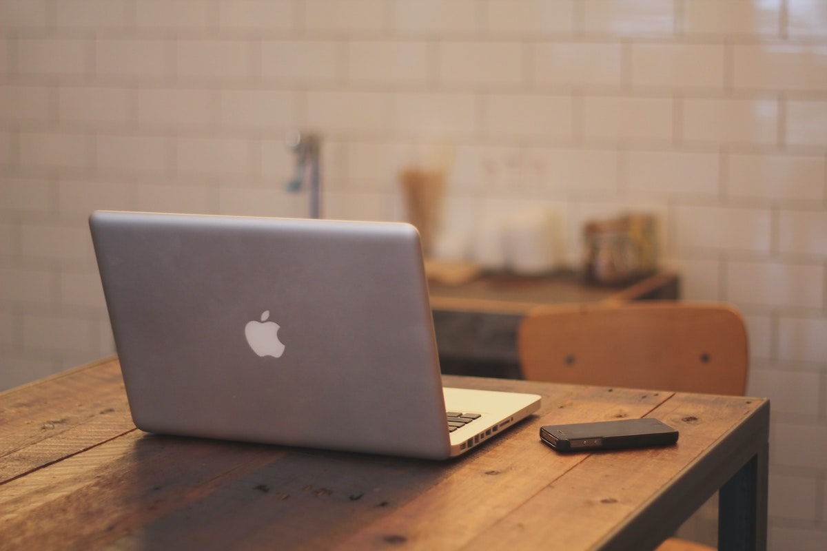laptop and phone on the table