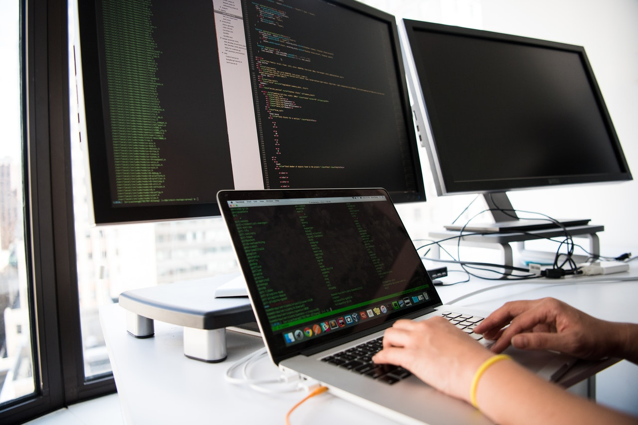 person working with codes