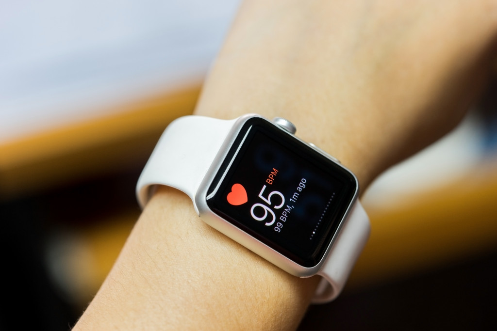 smart watch worn on wrist