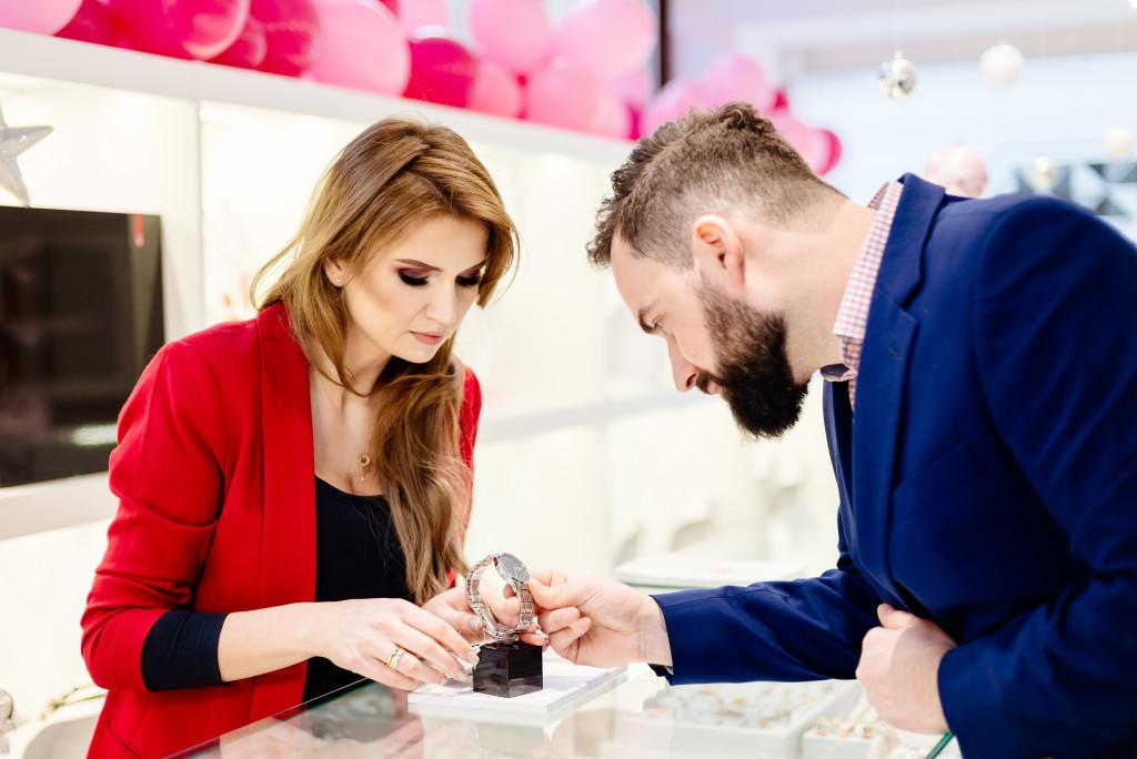 customer buying a watch